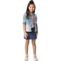 Camisa jeans estonada Malwee Kids Azul - 3 found on Bargain Bro India from Malwee Malhas for $24.46