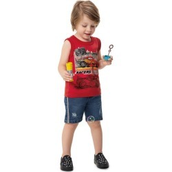 Regata Relâmpago McQueen® Malwee Kids Vermelho - 8 found on Bargain Bro India from Malwee Malhas for $14.66