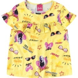 Blusa Com Babado Barbie® Menina Malwee Kids Amarelo - 4 found on Bargain Bro India from Malwee Malhas for $14.66