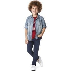 Camisa Jeans Xadrez Menino Malwee Kids Azul Claro - 4 found on Bargain Bro India from Malwee Malhas for $39.16