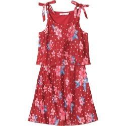 Vestido Plissado Floral Menina Malwee Kids Vermelho - 6 found on Bargain Bro India from Malwee Malhas for $24.46