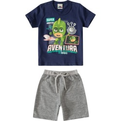 Conjunto PJ Masks® Menino Malwee Kids Azul Escuro - 2 found on Bargain Bro Philippines from Malwee Malhas for $24.46