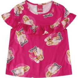Blusa Com Babado Barbie® Menina Malwee Kids Rosa Escuro - 8 found on Bargain Bro India from Malwee Malhas for $14.66