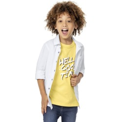 Camisa com bolso menino Malwee Kids Branco - 4 found on Bargain Bro India from Malwee Malhas for $24.46