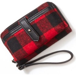 Buffalo Plaid Phone Case Wristlet