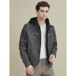 Jake Hooded Leather Jacket