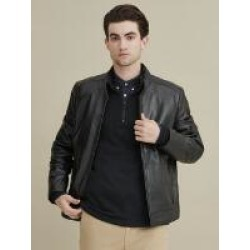 Moto Inspired Genuine Leather Jacket w