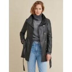 Victoria Belted Leather Jacket