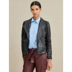 Asymmetrical Ribbed Leather Jacket found on Bargain Bro from Wilson's Leather for USD $167.19
