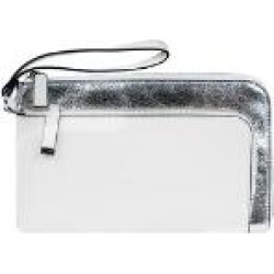 Famous Maker Saffiano/Crinkle Patent Leather Wristlet