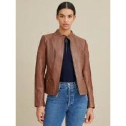 Caitlin Scuba Leather Jacket