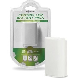Tomee Controller Battery Pack - White for Microsoft Xbox 360
