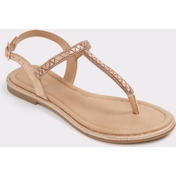 ALDO Sheeny - Women's Flat Sandals - Metallic, Size 7 found on Bargain Bro India from Aldo Shoes US for $34.98