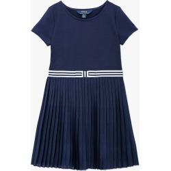 Ralph Lauren | Jersey Pleated Jersey Dress - Navy found on Bargain Bro India from basefashion.co.uk for $111.54