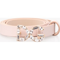 Dolce & Gabbana | DG Embellished Leather Belt - Pink found on Bargain Bro India from basefashion.co.uk for $261.21