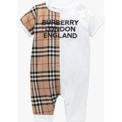 Baby Lennox Vintage Check Panel Playsuit - White found on Bargain Bro from basefashion.co.uk for USD $122.05