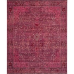 Safavieh Valencia 5' X 8' Power Loomed Polyester Rug in Red and Red found on Bargain Bro Philippines from Cymax for $192.99