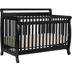 Da Vinci Systems Emily 4-in-1 Convertible Crib with Full Bed Rails in Ebony - M4791E-M4799E-PKG