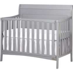 Dream On Me Bailey 5 in 1 Convertible Crib in Pebble Grey
