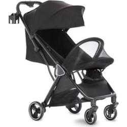 Dream on Me Insta Transitional Aluminum Auto Fold Stroller in Black