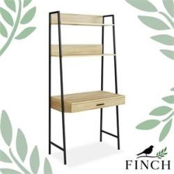 Finch Bedford Shelf Desk Beige found on Bargain Bro Philippines from Cymax for $204.99