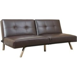 Abbyson Living Jakarta Leather Convertible Sofa in Brown - AD-PAB-161N5S-BRN