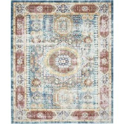 Safavieh Valencia 5' X 8' Power Loomed Polyester Rug in Blue found on Bargain Bro Philippines from Cymax for $192.99