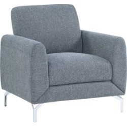 Lexicon Venture Upholstered Accent Chair in Blue found on Bargain Bro Philippines from Cymax for $288.99