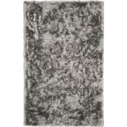 Safavieh Ocean 5' x 8' Hand Tufted Shag Rug in Silver found on Bargain Bro Philippines from Cymax for $197.99