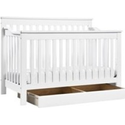 Da Vinci Systems Piedmont 4-In-1 Convertible Crib with Toddler Rail in White - M1921W-M5315C-KIT