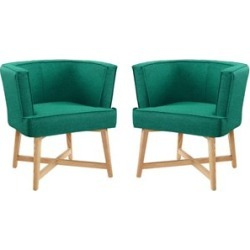 Modway Anders Fabric Upholstered Accent Barrel Chair in Teal (Set of 2) found on Bargain Bro Philippines from Homesquare for $592.50