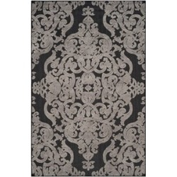 Austin Safavieh Monroe 4' X 6' Power Loomed Polypropylene Rug in Black - MNR152C-4