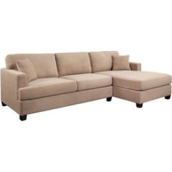 Abbyson Living Elena Right Facing Sectional in Beige - KS-272-BGE