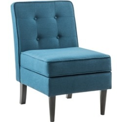 Oliver Blue Fabric Storage Accent Chair with Flip Top Storage found on Bargain Bro Philippines from Homesquare for $144.99