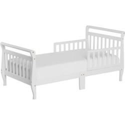 Dream On Me Sleigh Toddler Bed in White