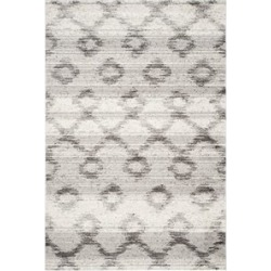 "Austin Safavieh Adirondack 2'6"" X 8' Power Loomed Rug in Silver and Charcoal - ADR106P-28"