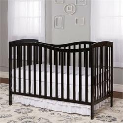 Dream On Me Chelsea 5-in-1 Convertible Crib in Black