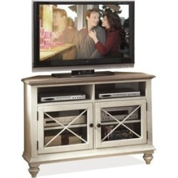 "Beaumont Lane 50"" Corner TV Stand in Dover White - BL-388501"