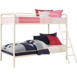 Ameriwood DHP Metal Bunk Bed in White-Twin Over Full - 3136196