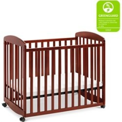 Da Vinci Systems Alpha Mini Rocking Mobile Wood Baby Crib in Cherry - M0598C
