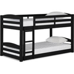 Dorel Living Sierra Twin Bunk Bed in Black
