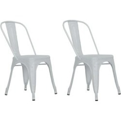 Ameriwood DHP Nova Metal Mesh Dining Chair in White (Set of 2) - C000002