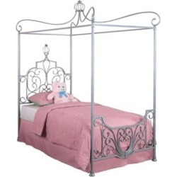 "Powell Furniture Princess Rebecca ""Sparkle Silver"" Twin Metal Canopy Frame - 374-106"