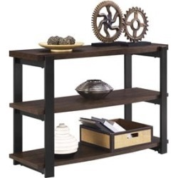 Ameriwood Home Castling Console Table in Espresso and Black - 5352096COM