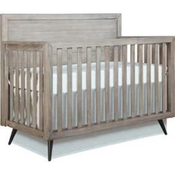 Evolur Stilnovo Mid Century 4 in 1 Convertible Crib in Windsor Oak Grey