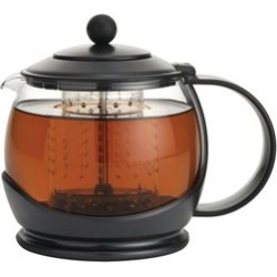 Bonjour Tea Glass Teapot in Black - 53108