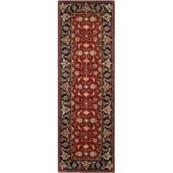 Safavieh Royalty 4' X 6' Hand Tufted Wool Pile Rug in Rust and Navy found on Bargain Bro Philippines from Cymax for $161.99