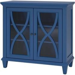 Ameriwood Home Ellington Double Door Accent Cabinet in Blue - 5042396COM