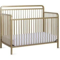 Baby Relax Juniper 4-in-1 Convertible Metal Crib in Champagne Gold