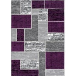 L'Baiet Verena Indoor Purple Brick Geometric 4' x 6' Fabric Area Rug found on Bargain Bro Philippines from Cymax for $47.99
